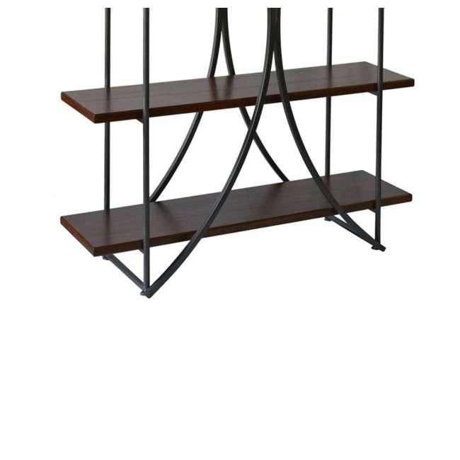 SC-SF24839 Abode 84 Elliptical Warehouse 4 Shelf Bookcase with Wood Shelves 3
