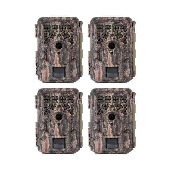 4 x MCG-13332 Moultrie M8000i Invisible Flash Mobile Compatible Game Hunting Camera (4 Pack)