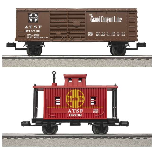 "711850 Lionel Junction Santa Fe Steam Set w/ 4 10"" FasTracks & Lenny the Lion(Open Box) 4"