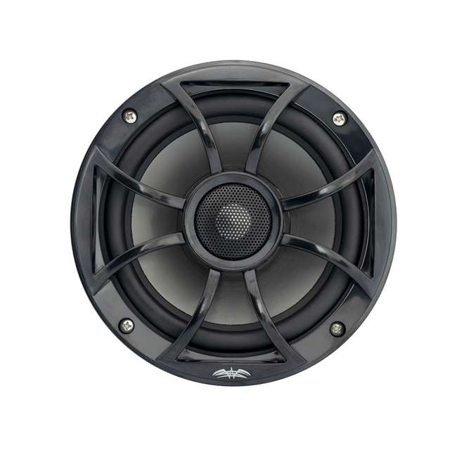 RECON6BG-U-B Wet Sounds 6.5 Inch 2 Way Open Grille Marine Speakers in Black, Pair (Used)