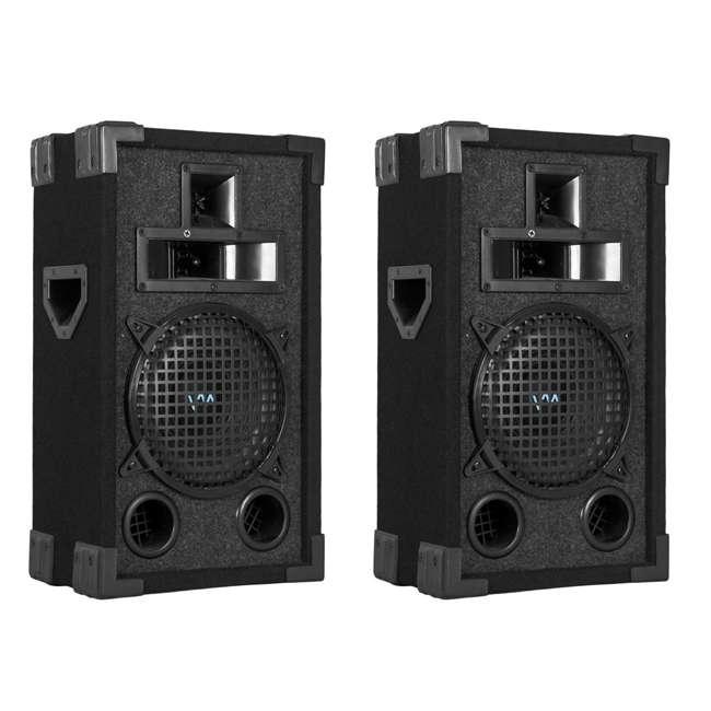 VAS38P-PAIR 2) VM Audio VAS38P 8-Inch 400W 3 Way DJ Passive Loud PA Speakers System