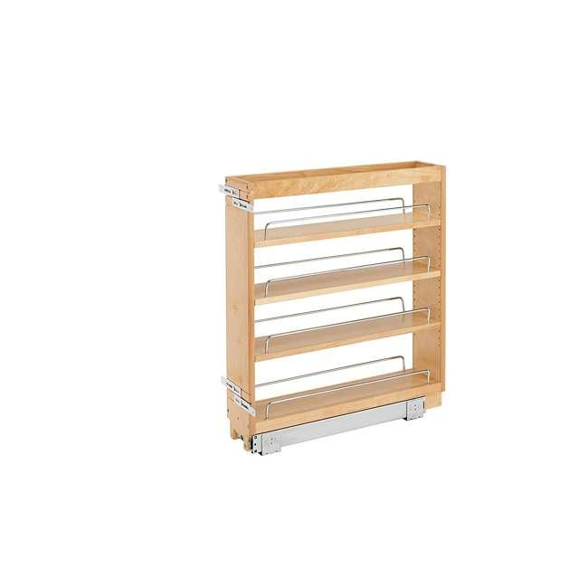 448-BC-5C-U-A Rev A Shelf 5 Inch Pull Out Wood Base Cabinet Organizer, Maple(Open Box)(2 Pack)