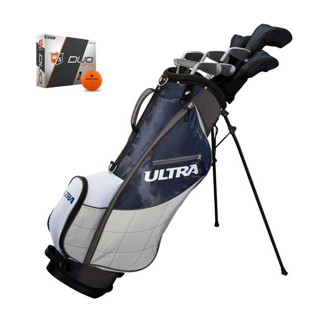 WGGC43600 + WGWP40800 Wilson Ultra Men's Right-Handed Complete Golf Club Set & Balls
