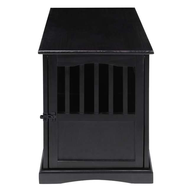 600-42 Casual Home Medium Pet Crate End Table, Black