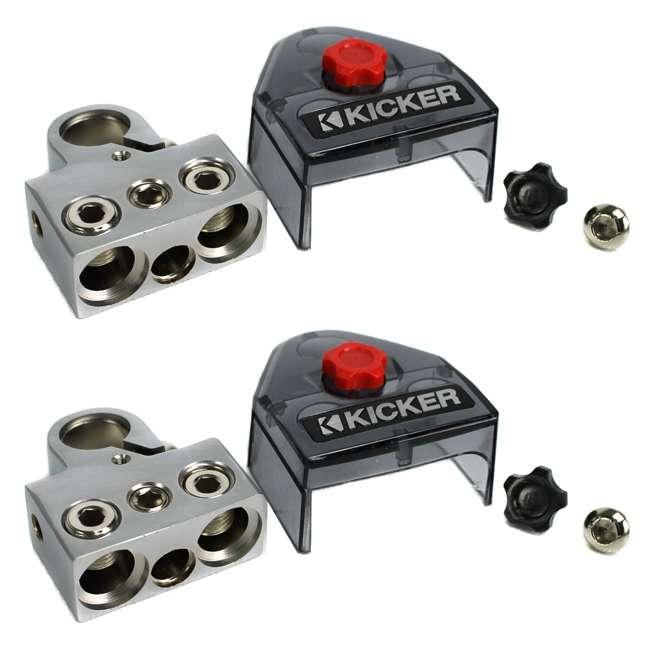 BT4 Kicker BT4 Positive/Negative Power Battery Terminal 0/1-8 Ga Gauge 3 Out (Pair)