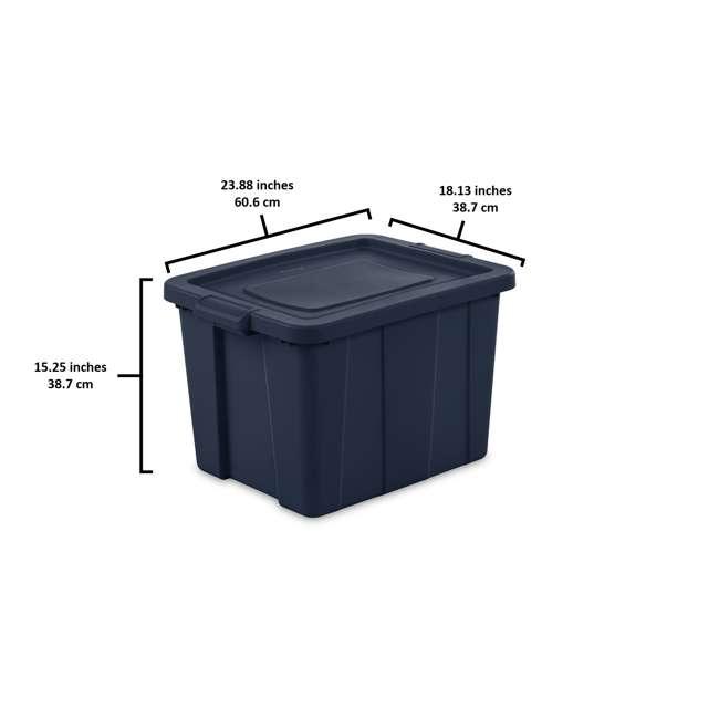16788N06 Sterilite Tuff1 18 Gallon Plastic Storage Tote Container Bin w/ Lid 1
