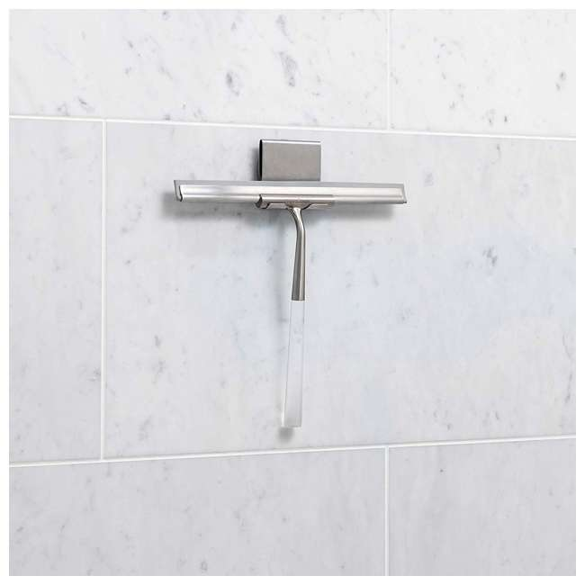 18099 Better Living Linea Rust Proof Stainless Steel Shower Squeegee with Suction Hook 3