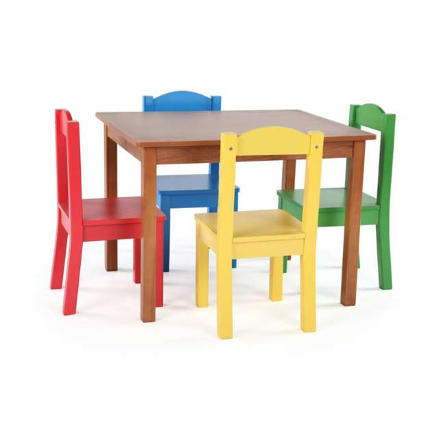 TC633 - Highlight Humble Crew Friends Highlight Collection Cedar Wood Table & 4 Primary Chair Set