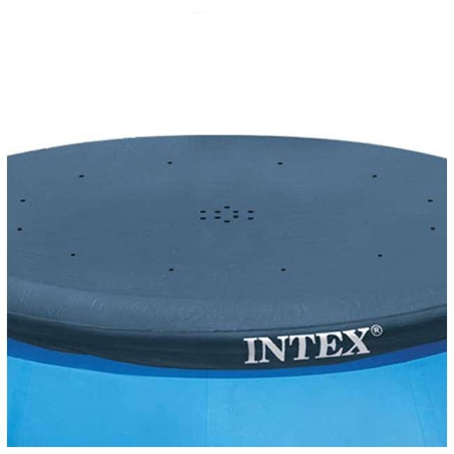 28021E-U-A Intex 10' Easy Set Swimming Pool Debris Vinyl Cover Tarp (Open Box) (2 Pack) 3