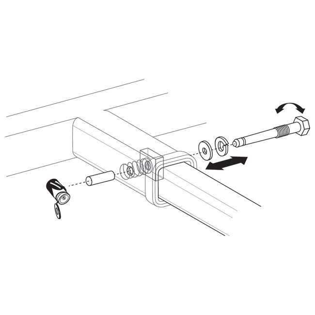 """SHP2040 Let's Go Aero SHP2040 5/8"""" Silent Hitch Pin Press-On Locking for 2"""" Hitches 7"""