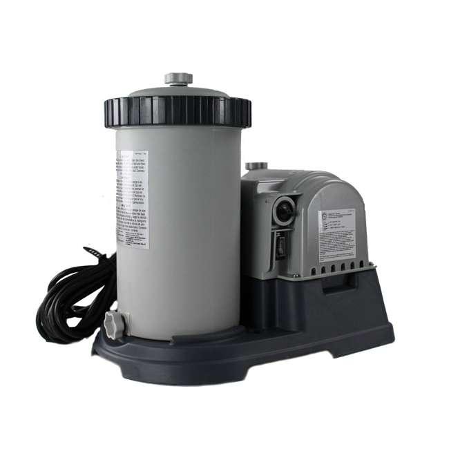 "26175EH + 28633EG Intex 18' x 48"" Above Ground Swimming Pool and 2500 GPH Cartridge Filter Pump 8"