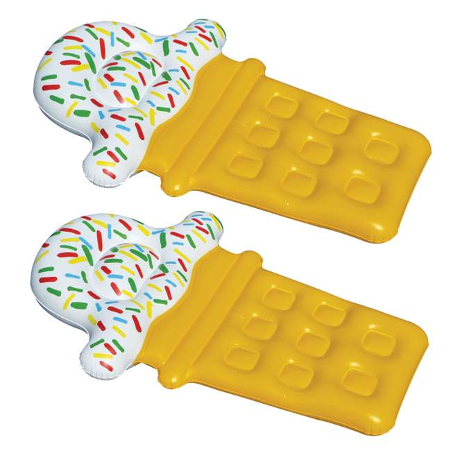90642 Swimline Ice Cream Pool Float (2 Pack)