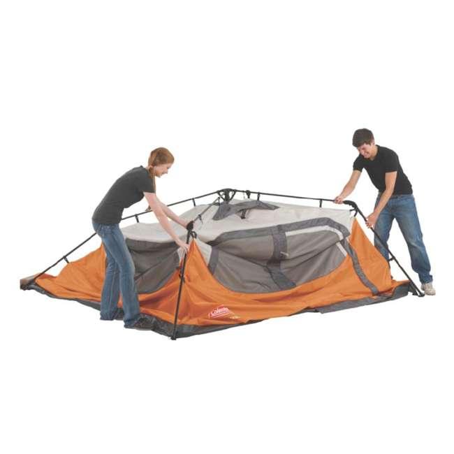 2000017933 + RIORC109TB-61 Coleman Outdoor 6-Person Camping Tent & 77 Quart Rolling Cooler 7
