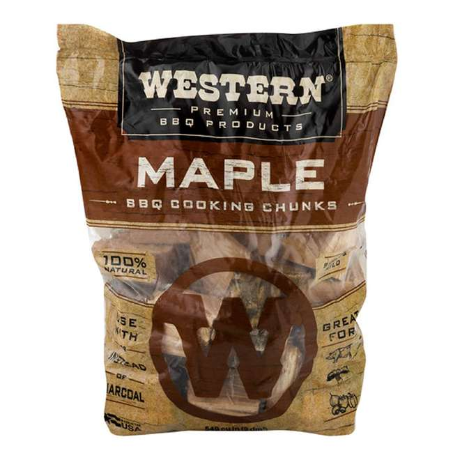 28085 Western BBQ Maple Barbecue Flavor Wood Cooking Chunks for Grilling and Smoking