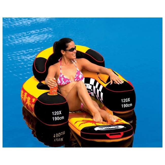 6 x 54-1602 Sportsstuff Siesta Lounge Inflatable Float Raft Lounger (6 Pack) 3