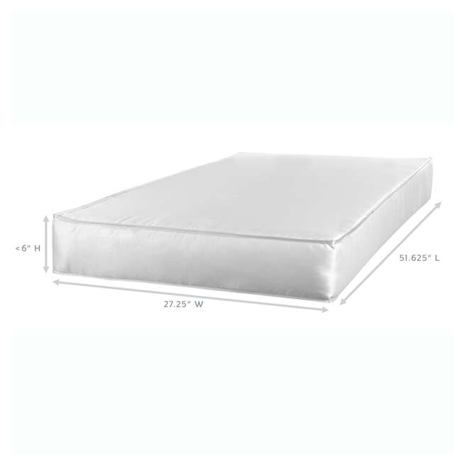 04565-50F + EM712-PHN1 Thomasville Kids Willow Crib, Pebble Gray & Sealy Soybean Mattress  7