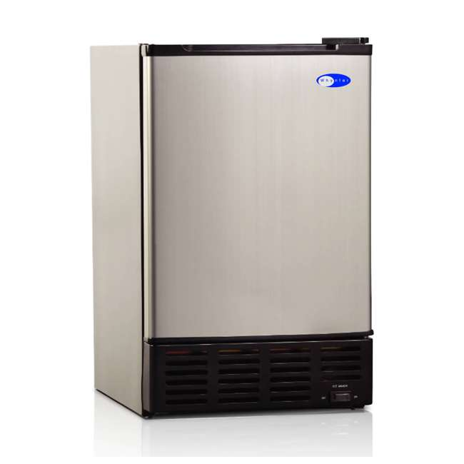 UIM-155 Whynter UIM-155 Freestanding Stainless Steel Compact Kitchen Built-In Ice Maker