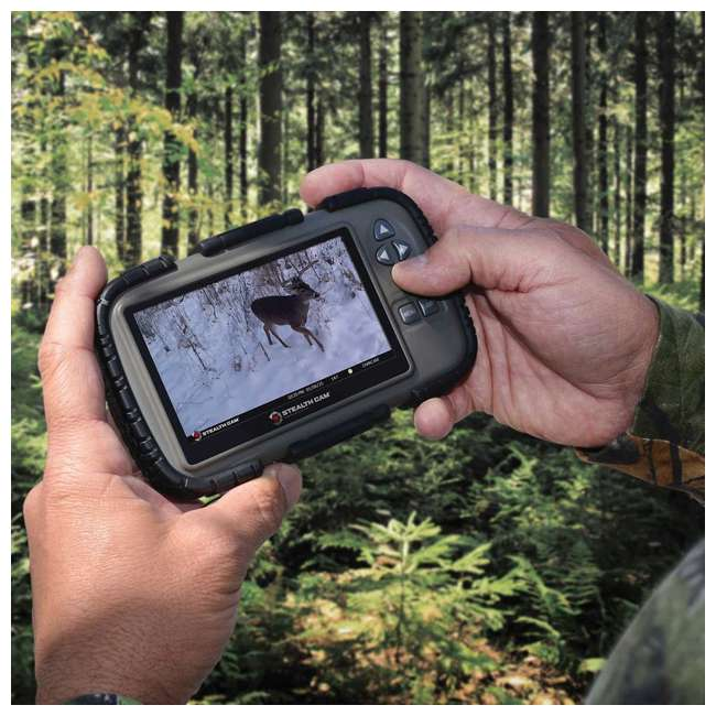 """STC-CRV43-U-C Stealth Cam 4.3"""" LCD Game Photo Viewer & SD Card Reader for Hunting (For Parts) 3"""