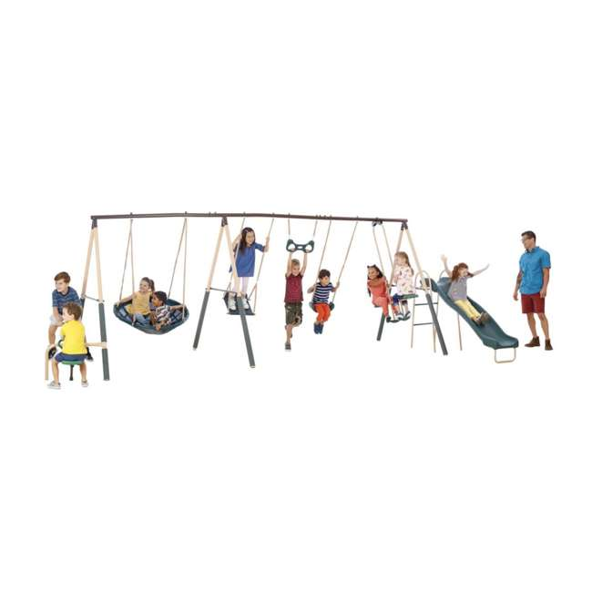 96665 XDP Recreation Deerfield 10 Child Capacity Kids Swing Set Playground (For Parts) 1