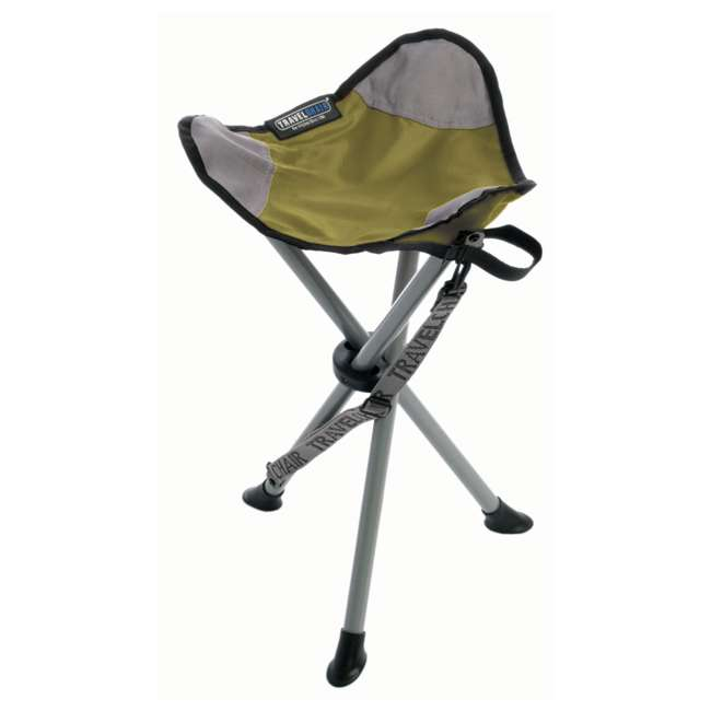 1389VG TravelChair Backless Slacker Portable Outdoor Folding Stool Seat Tripod, Green