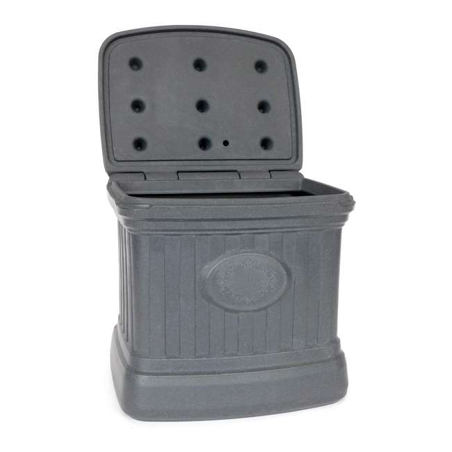 SB120-GRY-S FCMP Outdoor SB120-GRY-S 20 Gal. Sand, Salt, Ice Melt Outdoor Storage Bin, Gray 1