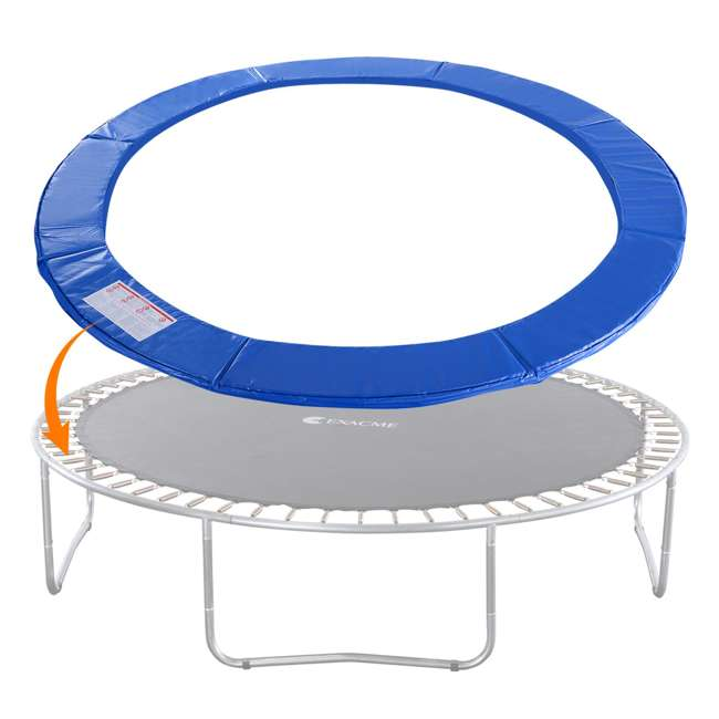 6180-CP12B Exacme 12 Foot Round Trampoline Frame Spring Cover Safety Pad Replacement, Blue 2