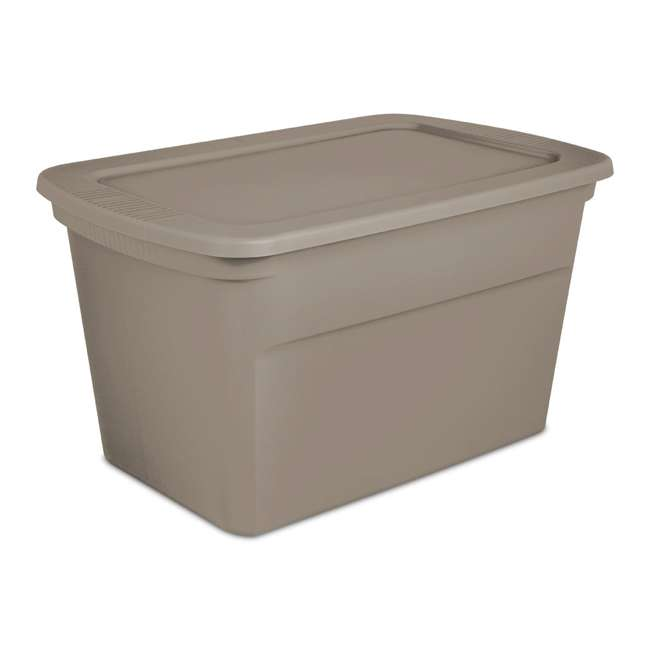 24 x 17366506 Sterilite 30 Gallon Storage Tote, Taupe (24 Pack)