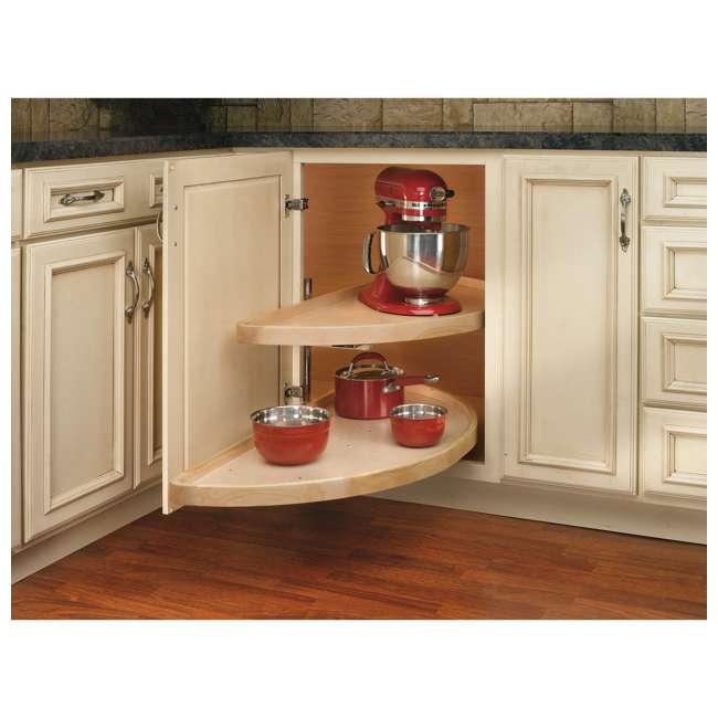 4WLS882-35-570 Rev-A-Shelf 4WLS882-35-570 35 Inch Wooden Cabinet 2 Shelf Lazy Susan, Half Moon 2
