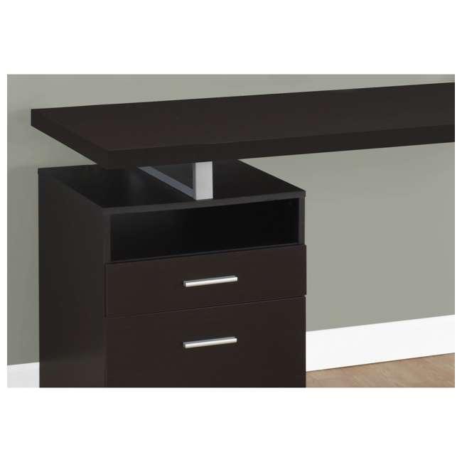 VM-7143 Monarch Specialties 60 Inch Industrial Design Office Computer Desk, Cappuccino 3