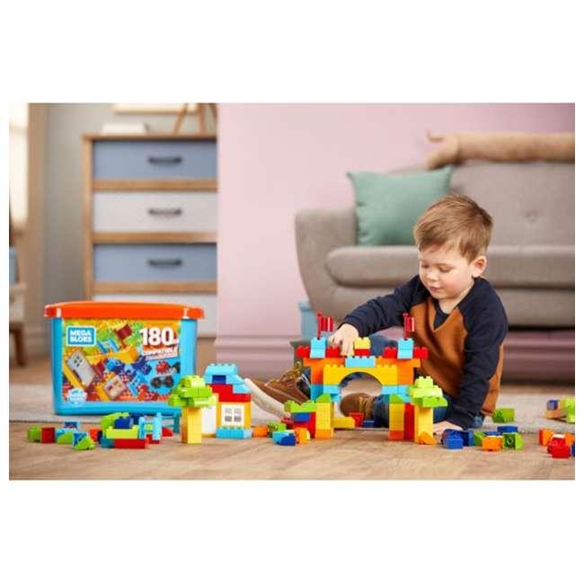 GJD22 Mega Bloks GJD22 Junior Builder Mini Bulk Tub 180 Piece Large Block Building Set 1