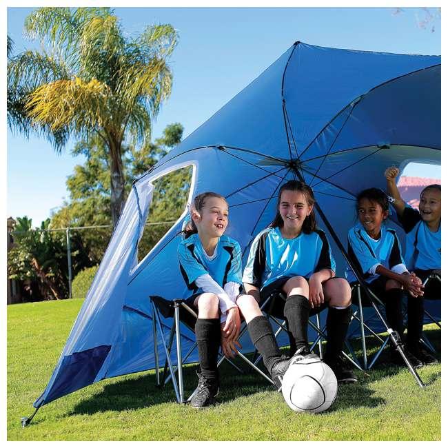BRE01-SUP-075-2 Sport-Brella Super-Brella 8-Foot Portable Sun Shelter Weather Umbrella, Blue  2