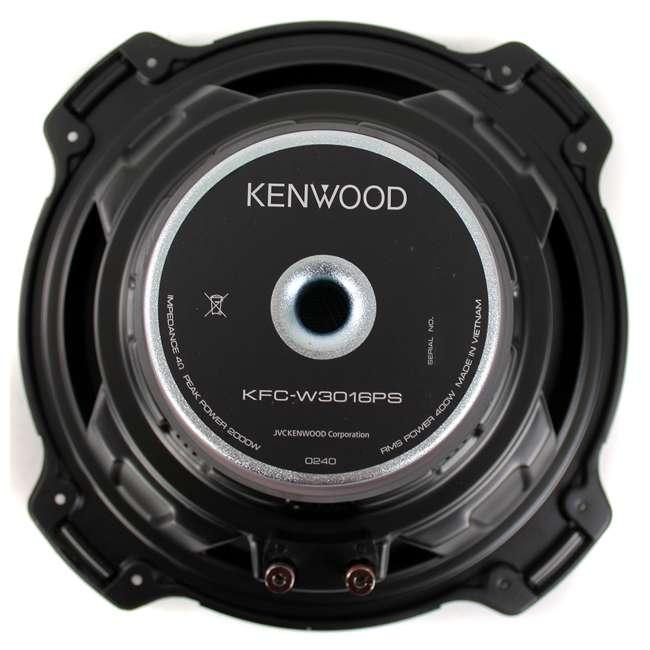 "KFC-W3016PS + QDODGE124DOOR + AR4000D + 4GAUGE Kenwood 12"" 2000W Subwoofer Pair + '02 Dodge Ram Quad Box, Mono Amp & Wiring Kit 6"