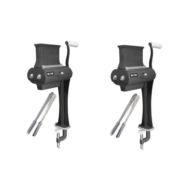 07-3801-W-A Weston Manual Single-Support Jerky Slicer with Tongs (2 Pack)