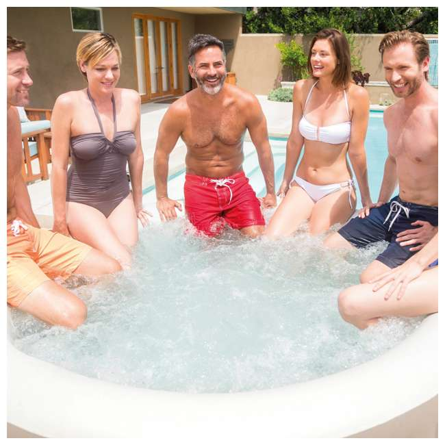28407E Intex PureSpa 85 Inch 6 Person Inflatable Round Hot Tub Spa with Soothing Jets  3