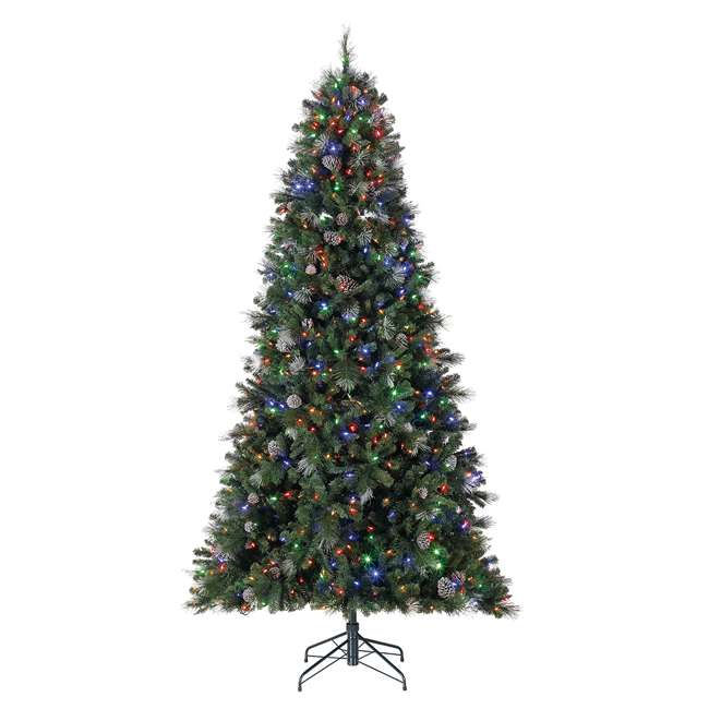 TG66M3ABAD00-U-A Home Heritage Lincoln 6.5' 400 Bulb Christmas Tree, Pine Cones/Glitter(Open Box) 1