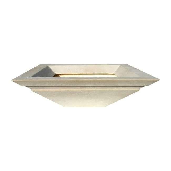 CUPL-2407SS Qualarc Stone Patio Cubic Planter Pot Sandstone 24-Inch 1