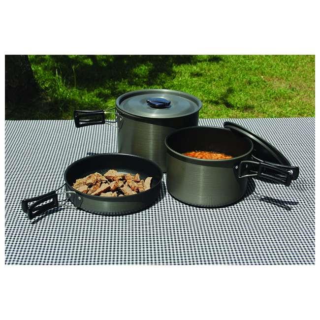 TXSPT13414 Texsport Trailblazer Black Ice Hard Anodized Cookware Set (2 Pack) 2