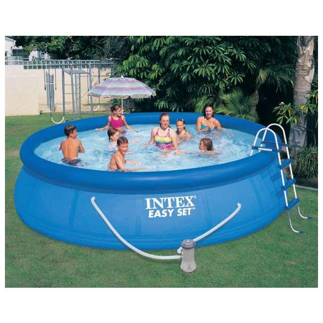 Intex 15 39 X 42 Easy Set Pool W 1000 Gph Filter Pump Skooba Vac 28165eg 54907eg K535cbx Grn