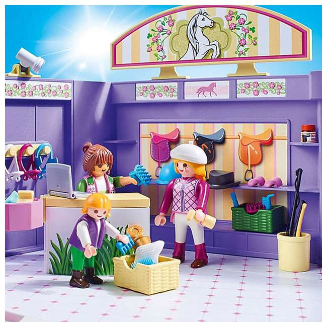 PLAY-9401 Playmobil Horse Tack Shop Kids & Toddler Educational Learning Toy Accessory Set 4