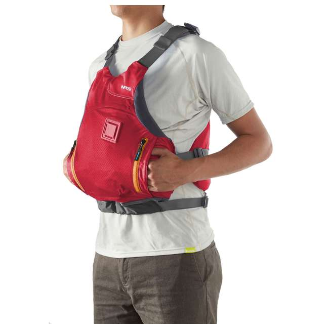 NRS_40056_01_104 NRS Ion PFD Adult Life Jacket Vest with Pockets, Red, L/XL 2