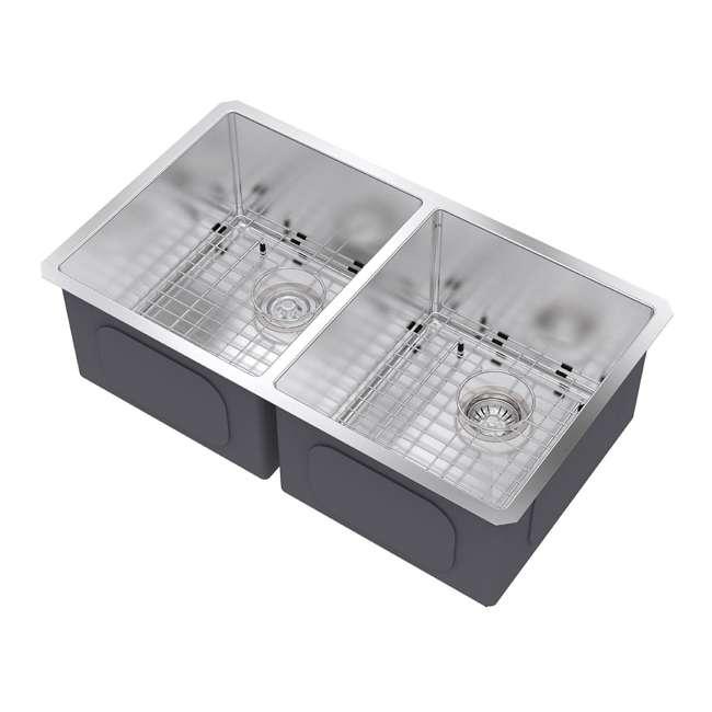 KHU102-33 Kraus 33-Inch Undermount Double Stainless Steel Kitchen Sink (2 Pack) 2