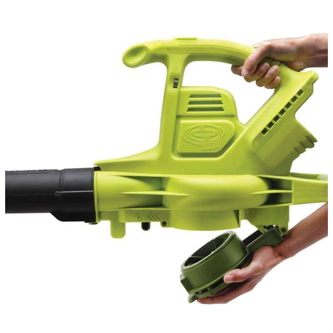 SUJ-IONBV-CT-RB Sun Joe Blower Vacuum Mulcher Gutter Cleaner, Green (Certified Refurbished) 2