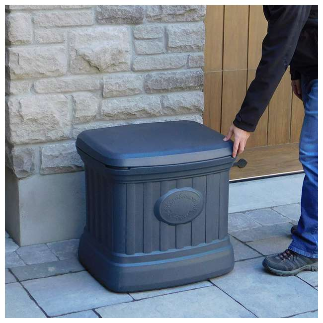 SB120-GRY-S FCMP Outdoor SB120-GRY-S 20 Gal. Sand, Salt, Ice Melt Outdoor Storage Bin, Gray 4