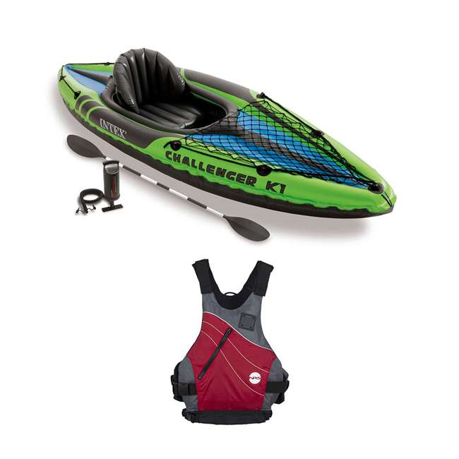 68305EP + NRS_40034_01_105 Intex Kayak Set & NRS Vapor Adult L/XL Life Vest