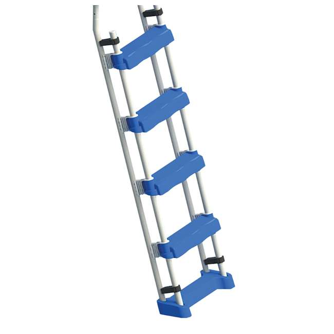 87950 + 87953 Swimline 48 Inch Pool Ladder with 9x36-Inch Vinyl Protective Pool Ladder Mat 3