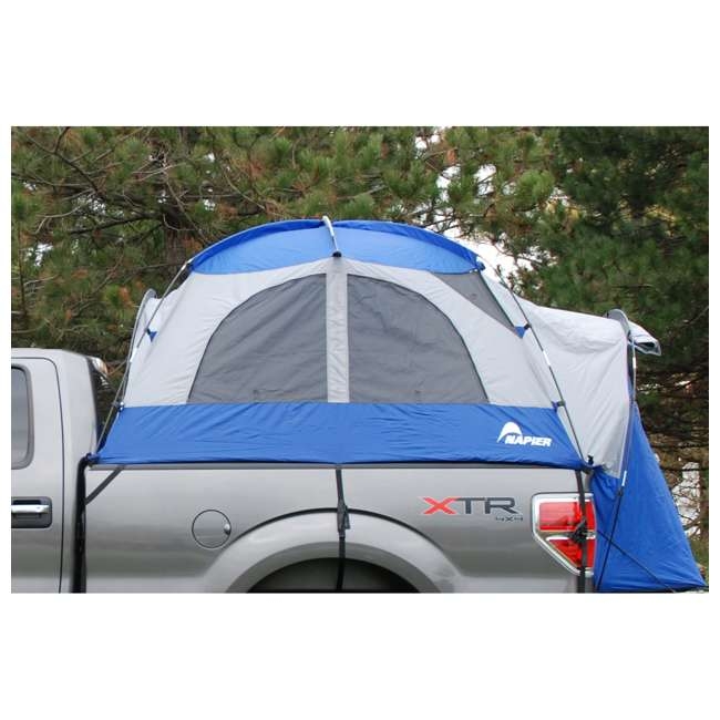 57011-U-B Napier Sportz 8.2 Ft. Easy Setup Full Size Long Truck Bed Tent, Blue/Gray (Used) 8