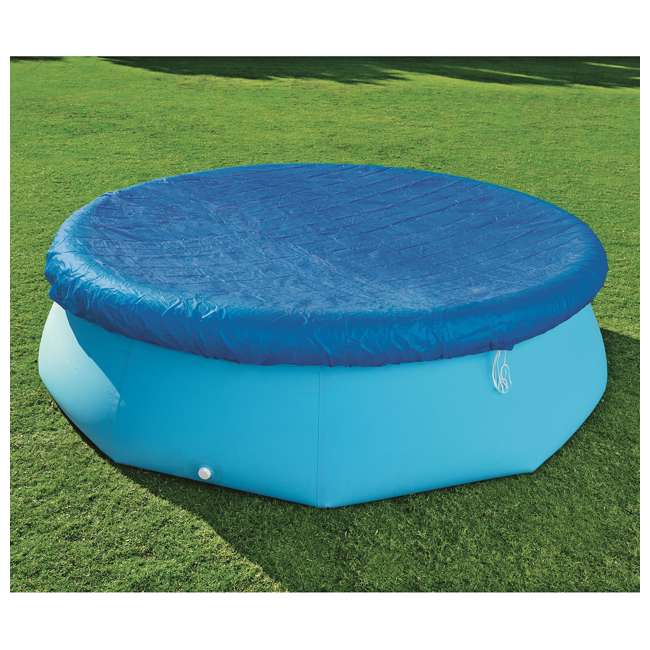 58033E-BW-U-A Bestway Flowclear Fast Set 10 Foot Above Ground Pool Cover (Open Box) (2 Pack) 1