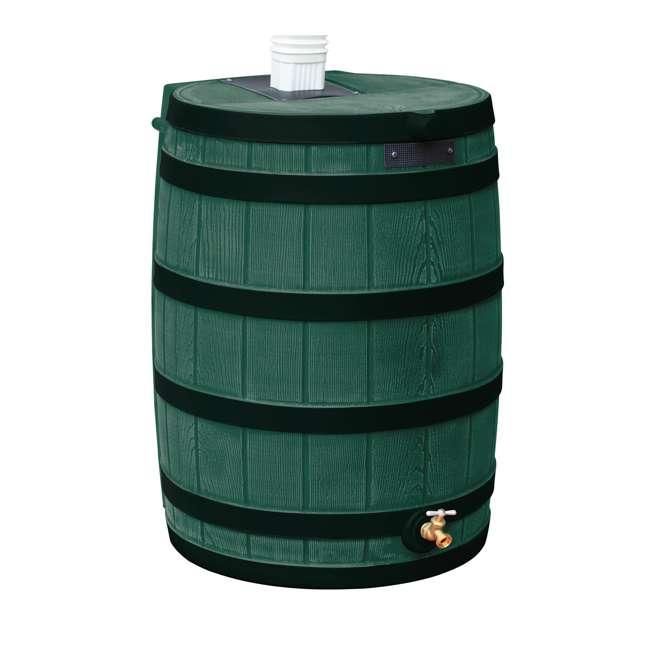 RW50-DR-GRN Good Ideas Rain Wizard Rain Collection Rain Barrel 50-Gallon Dark Ribs, Green