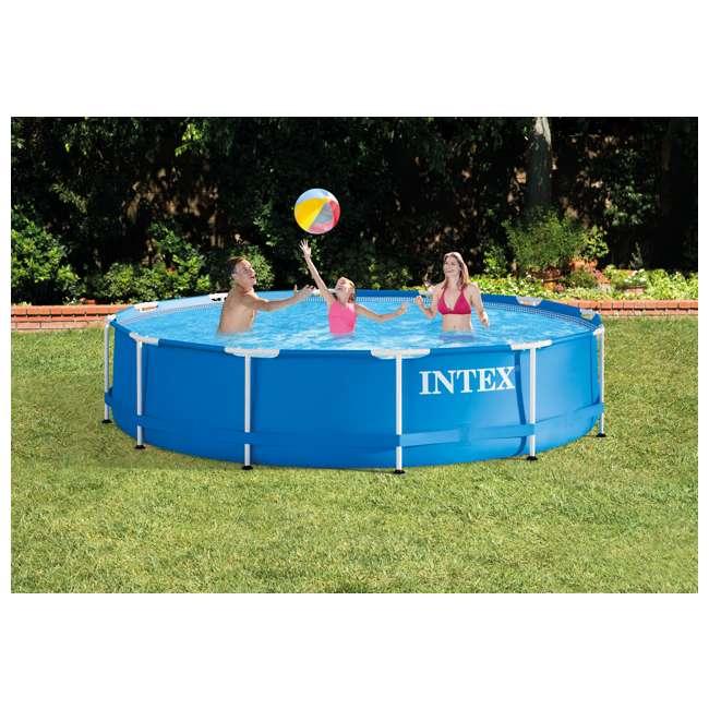 intex 12 39 x 30 metal frame set swimming pool w 530 gph pump filters 56995eg 28211eh. Black Bedroom Furniture Sets. Home Design Ideas