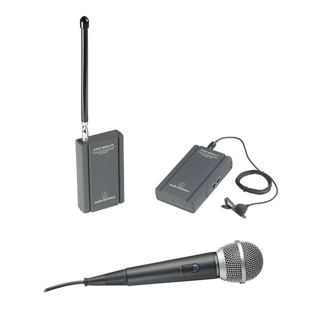 ATR288W-OB Audio Technica VHF TwinMic System with Receiver and Transmitter